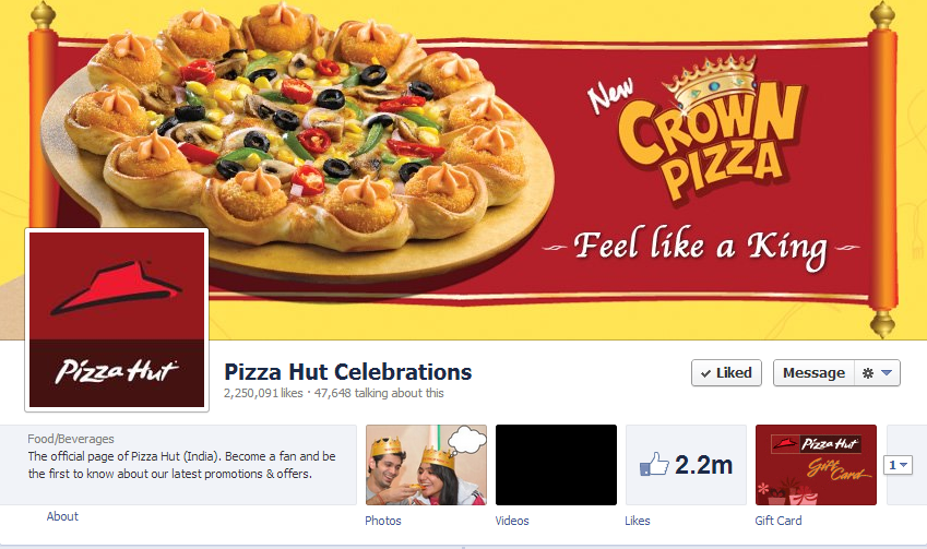 10 Awesome Facebook Cover Photos Of Indian Brands image Pizza Hut Celebrations
