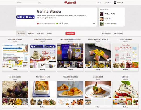 Gallina Blanca Has Its Eyes on Pinterest image Screen Shot 2012 12 17 at 2.15.49 PM 540x420