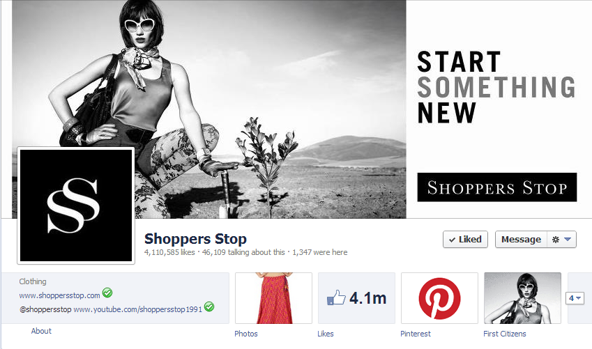 10 Awesome Facebook Cover Photos Of Indian Brands image Shoppers Stop