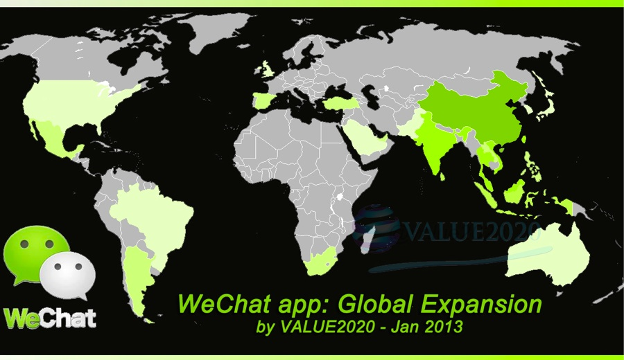 WeChat-heatmap-worldwide-users