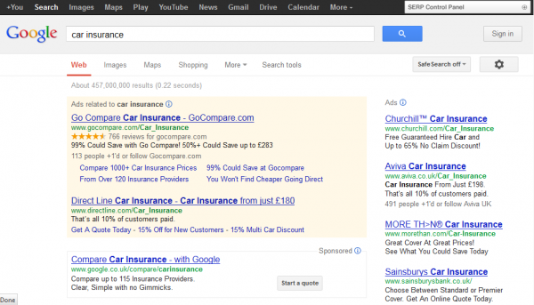 5 Top Tips for Insurance SEO image car insurance 600x343