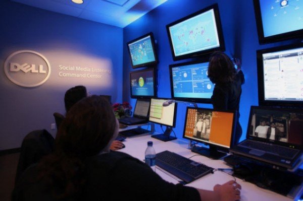 Why Social Media Command Centers Need to Be Less Like GI JOE image dell social media listening command center 3 600x399
