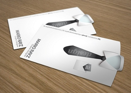 10 New Ways to Print Business Cards image die cut business cards