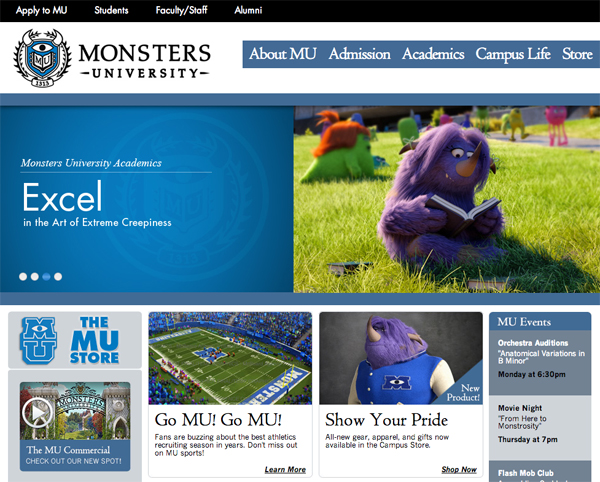 The Best Branded Content of the Week: January 5, 2013 image monsters university