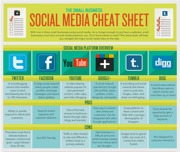 10 Awesome Infographics for Small Business image social medial flowtown 600x507