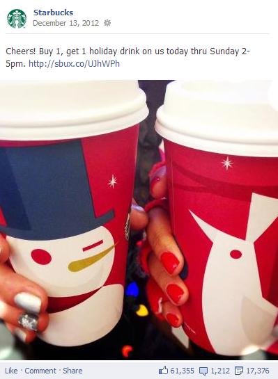 6 Reasons Starbucks Excels at Social Media Marketing image starbucks buy one