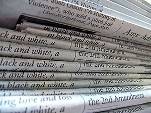 "Do We Care if Web Content is ""Above the Fold""? image 300px A stack of newspapers"