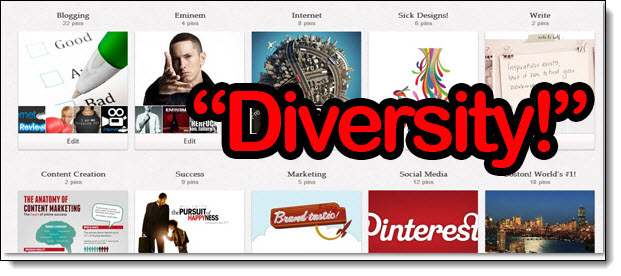 How to Take Your Pinterest Engagement And Results To The Next Level image Create more diverse boards on Pinterest
