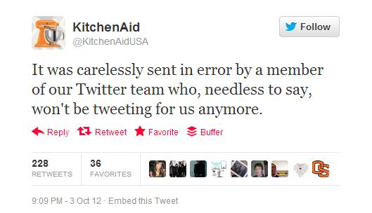 How to Respond to a Social Media Crisis image Kitchen Aid 3