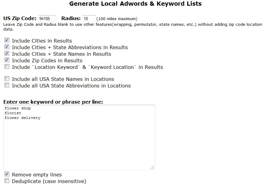 5 Free Killer Keyword Research Tools image Local keyword generator