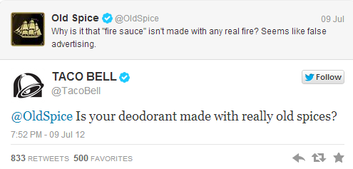 Twitter: Best Practices for Brands image old spice