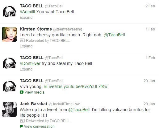 Yo Quiero Engagement? Taco Bell Charms The Twittersphere image taco bell twitter1