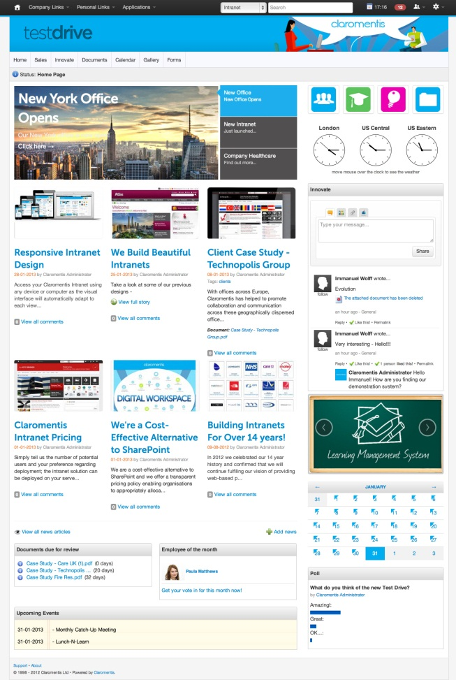 Creating an intranet brand for Company intranet template