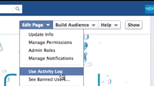 Facebook Activity Log Overview