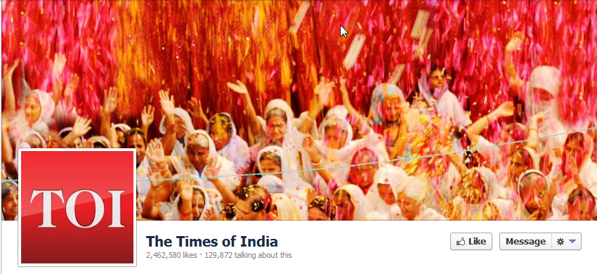 Glimpses of a Social Media Holi
