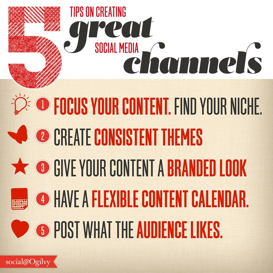 5 Tips on Creating Great Social Media Channels [Infographic] | Business 2 Community