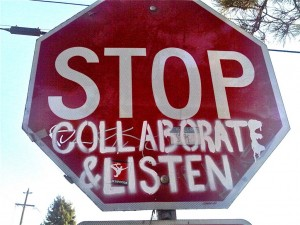 Enterprise Social Media Use: Women More Likely To Collaborate image StopCollaborateAndListen 300x2251