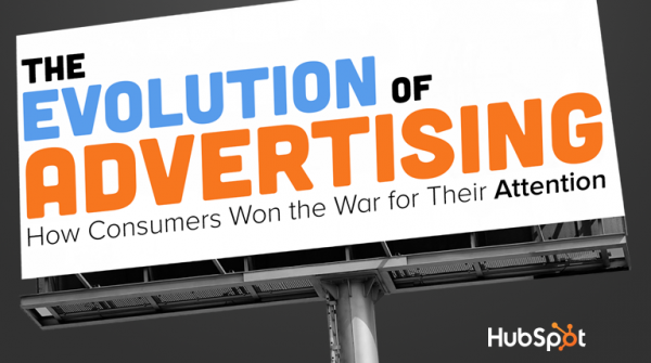 History of Advertising: How Consumers Won the War for Their Attention image evolution of advertising title slide fixed 600x335