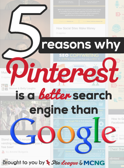 5 Reasons Pinterest's Search Engine Is Better Than Google's image 5 reasons