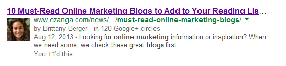 Google Authorship 101 image google authorship example.png