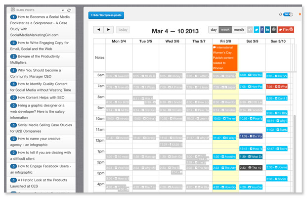 Top 15 LifeChanging Editorial Calendar Tools – Sample Social Media Calendar