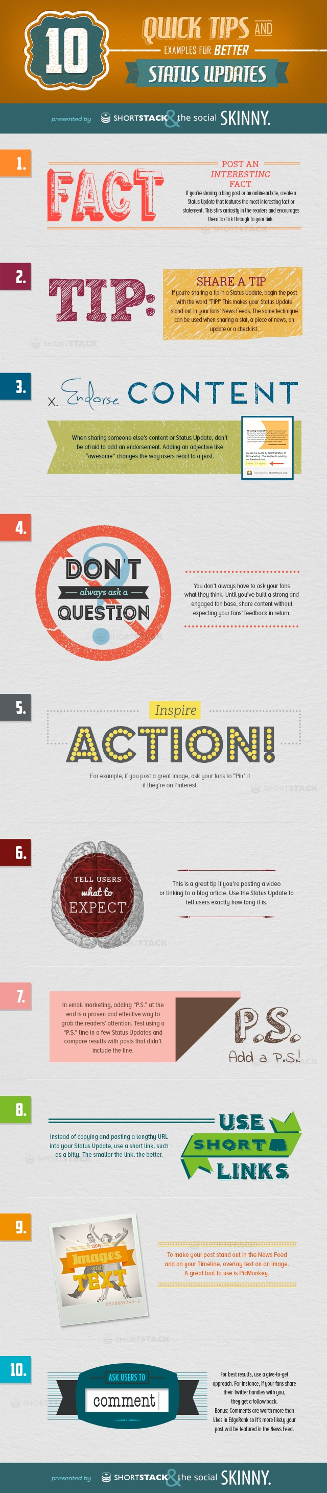 ShortStack10StatusUpdatesInfographic 10 Tips for Better Social Media Status Updates [Infographic]