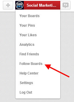 Use the follow boards tools to find boards to follow