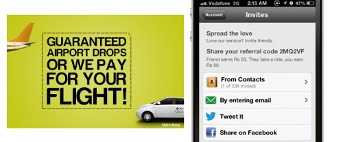 How Can Travel Companies Use Social Media for Marketing? image olacabs incentivize