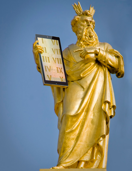 The 10 Commandments of Social Media image moses