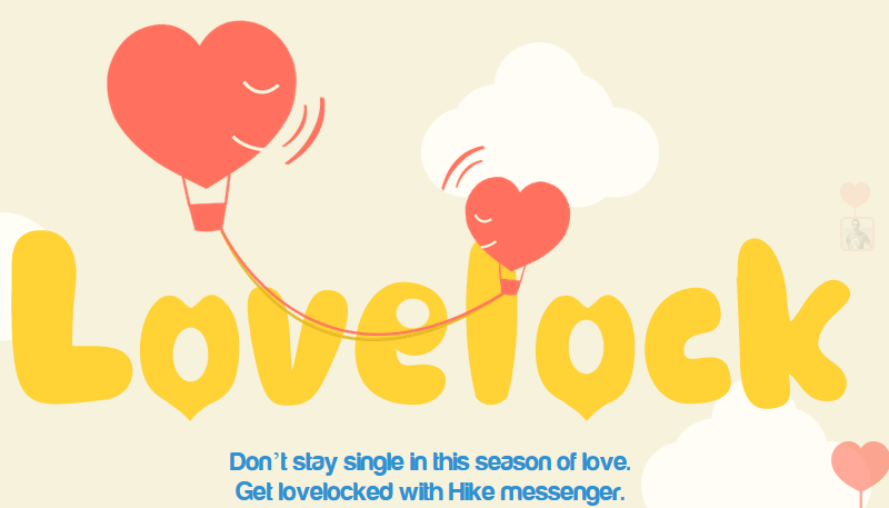 Indian Messaging App, Hike Plays Cupid With Lovelock Valentine Game image Hike lovelock valentine Facebook