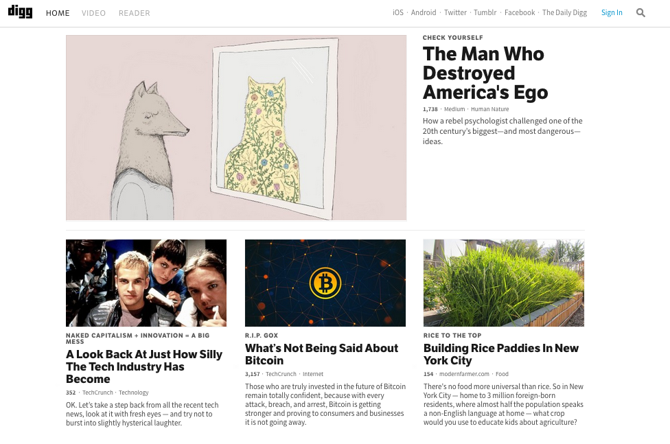 Why Digg, Not Reddit, Is A Must read For PR Pros image Digg Home