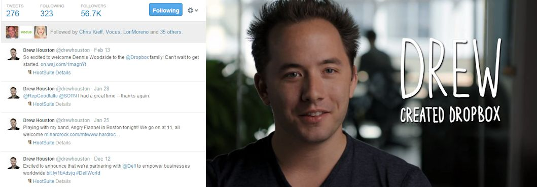 Drew Houston Tech CEO Influencer Tweet