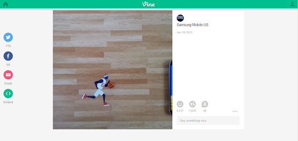 How To Add Vine Videos To Pinterest image Samsung Mobile