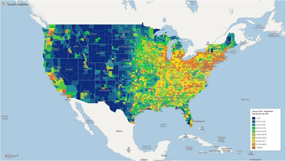 Watch Years Of US Population Expansion - Us population map