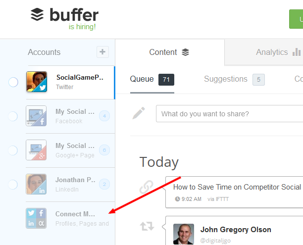 A Quick Starter Guide to Buffer image Adding Accounts to Buffer