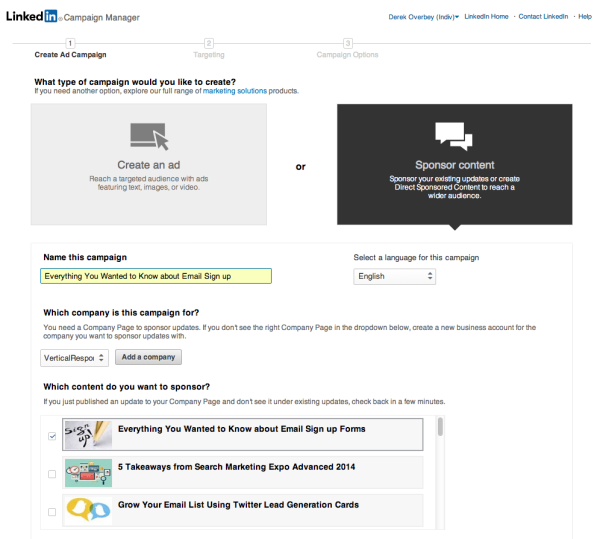 How to Set up LinkedIn Sponsored Updates image 21 600x539
