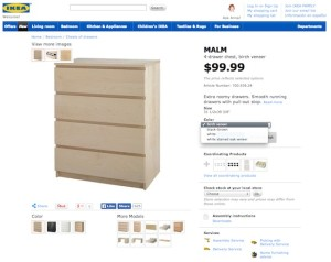 What Nike.com (and Others) Can Teach You About Building Persuasive Product Pages image ikea color selection2 1 300x238
