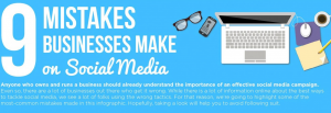 9 Social Media Marketing Mistakes (Infographic)