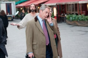 Hollywood Jesus Appears to Nigel Farage