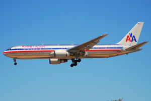 American Airlines Jet in the Air