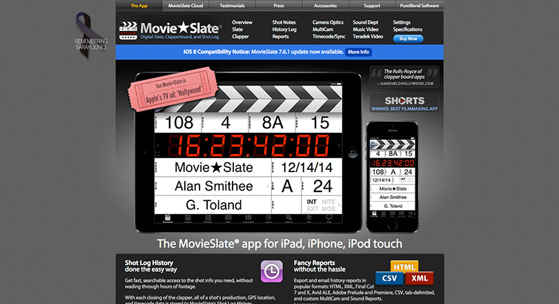 12 must have apps for video pros image movie slate.jpg