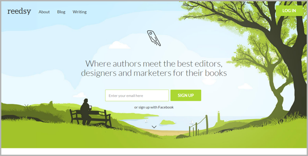 Reedsy - example of writing tools for content marketing