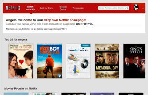 Netflix relies on real-time personalization to know you just like a real person. Photo credit: StaticWorld.net.