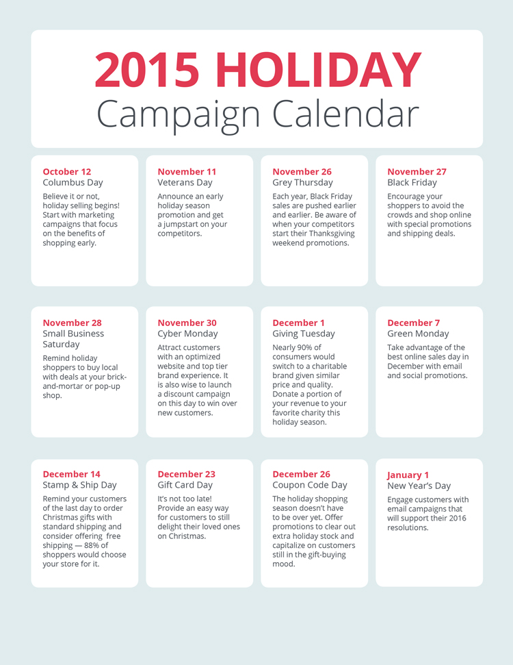 How To Create And Organize Your Holiday Ecommerce Campaigns