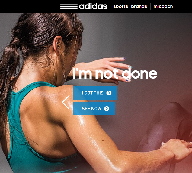 Example of Adidas using emotional image