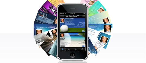 5 business card apps to move your contacts into the digital age snapdat is a handy digital business card app thanks to its ability to integrate information with the iphone address book reheart Images