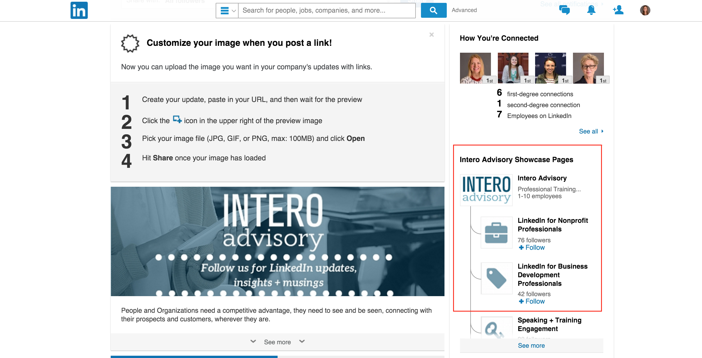 how to build a linkedin showcase page