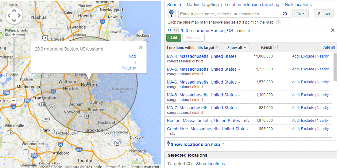 Money saving PPC tips geolocation settings