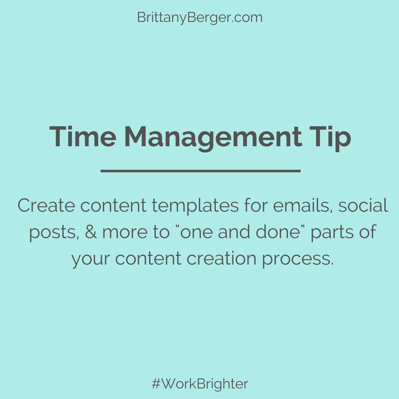 Time Management Tip Create Content Templates for Emails Social Posts and More