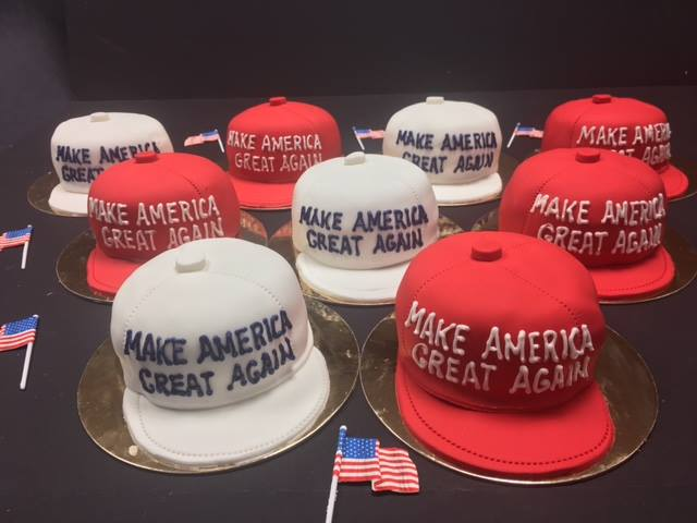 In Honor Of The 45th President United States Inauguration Make America Great Again Mini Hat Cakes